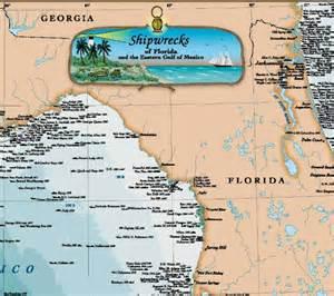 woodmounted florida gulf of mexico shipwreck chart