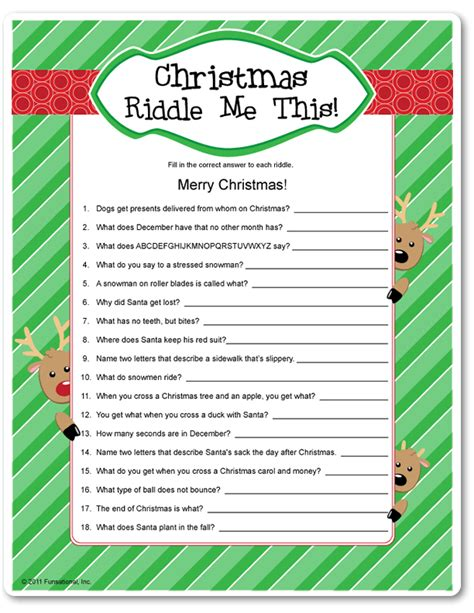 easy christmas games for adults printable riddle me this funsational happy holidays