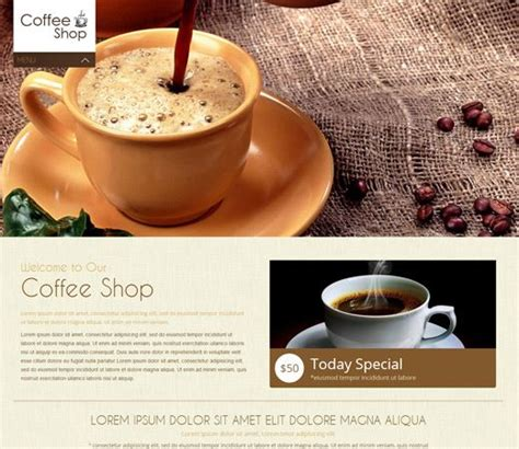 Coffee Shop Mobile Website Template By W3layouts Free Restaurant Website Templates Pinterest Coffee Shop Template