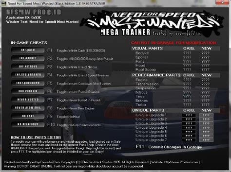 coding walkthrough need for speed most wanted cheats and codes xbox 360