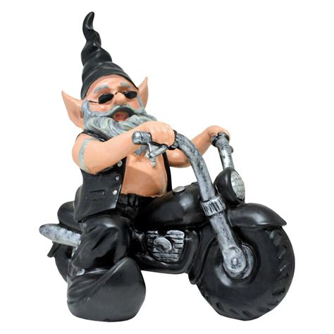 leather motorcycle accessories home styles quot quot quot 12 in h quot quot quot quot biker dude quot quot quot quot the biker gnome