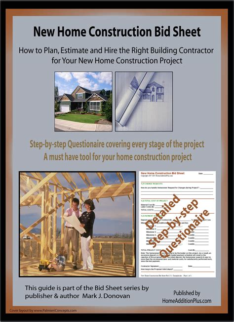 new home construction cost estimator here is a new home construction bid sheet for helping soon
