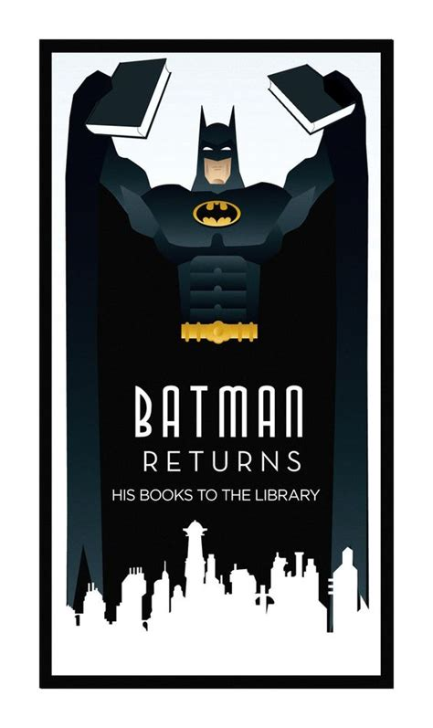 printable batman poster batman returns batman and libraries on pinterest
