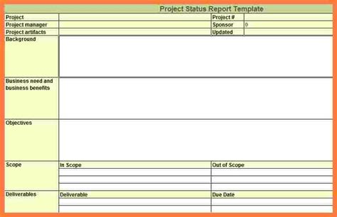 9 weekly project status report template excel progress