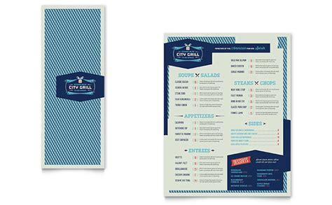 half fold menu template half fold menu templates designs