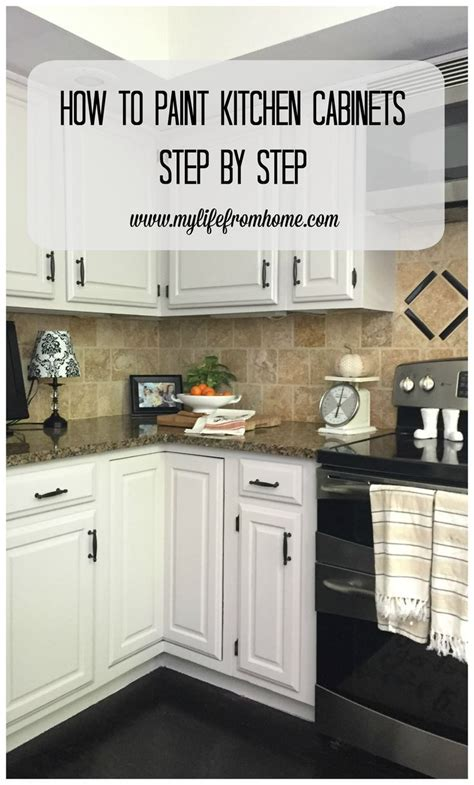 how to paint my cabinets white diy how i painted my kitchen cabinets kitchen cabinet