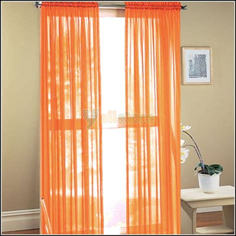at home curtains orange curtains panels panel curtains for living room