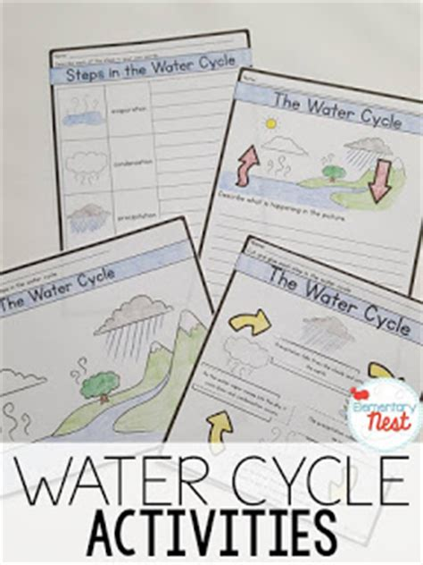 Pictures Water Cycle Writing Activity - second grade nest teaching water cycle activities