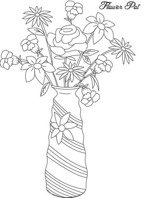 imagenes de jarrones faciles para dibujar imrpimir dibujos para colorear floreros 22