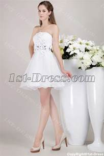 white sweet 16 dress short with floral 1st dress com