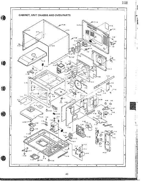 sharp microwave parts diagram microwave oven complete page 8 diagram parts list for