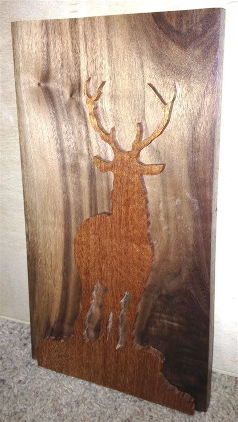 wood bucks wood buck silhouette wood working
