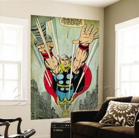marvel comics retro wall murals decor home decor