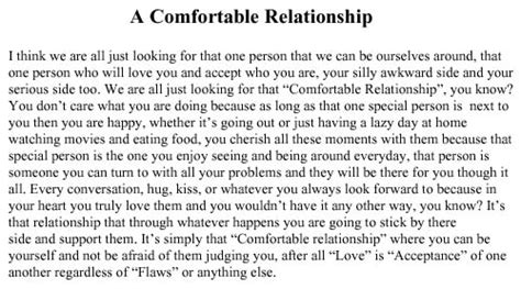 comfortable in relationship daily quotes quote about a comfortable relationship