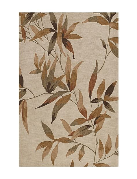 Dalyn Studio Rugs Dalyn Rugs Studio Plush Collection Ivory Leaf Print Area