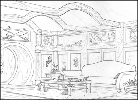 hobbit house coloring page get this free the hobbit coloring pages online 36178