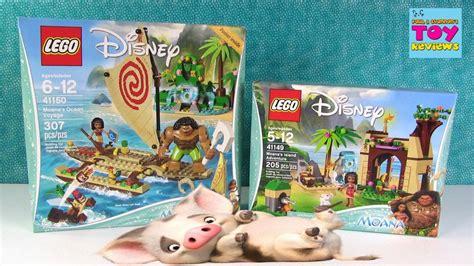 Vs Moana Set lego moana building sets unboxing voyage island adventure pstoyreviews