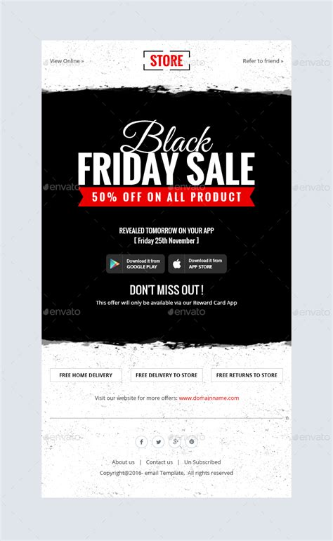 Black Friday Shopping Offers Email Template Psd By Kalanidhithemes Black Friday Email Template