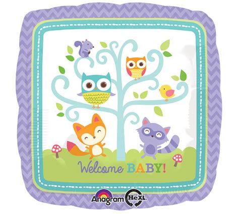 Baby Boy Welcome Home Decorations Woodland Creatures Fox Owl Squirrel Quot Welcome Baby Quot Shower