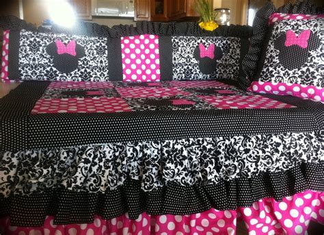 minnie mouse baby bedding minnie mouse crib bedding by birdiedell on etsy 375 00