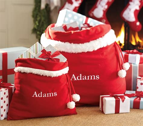 red santa sack for babies pictures pottery barn personalized santa hats 7 00 shipped