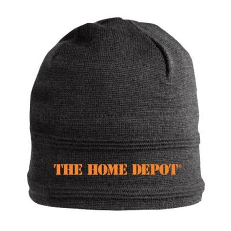 the home depot 8 5 in grey acrylic beanie fitted hat
