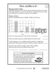 5th grade science worksheets how soluble is it