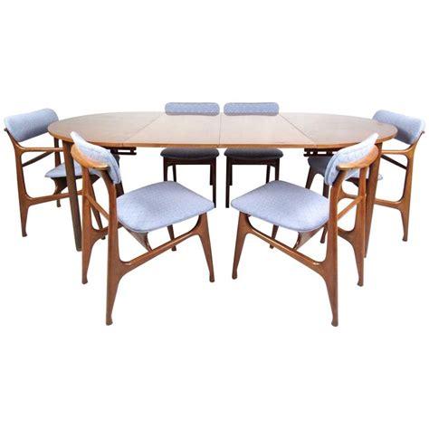 Mid Century Modern Dining Table Set Mid Century Modern Sculptural Italian Walnut Dining Set For Sale At 1stdibs