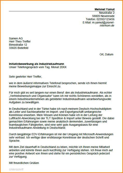 Anschreiben Bewerbung Ausbildung Industriekaufmann 4 Industriekaufmann Bewerbung Questionnaire Templated