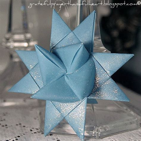 How To Make Paper Moravian - with a grateful prayer and a thankful folded paper