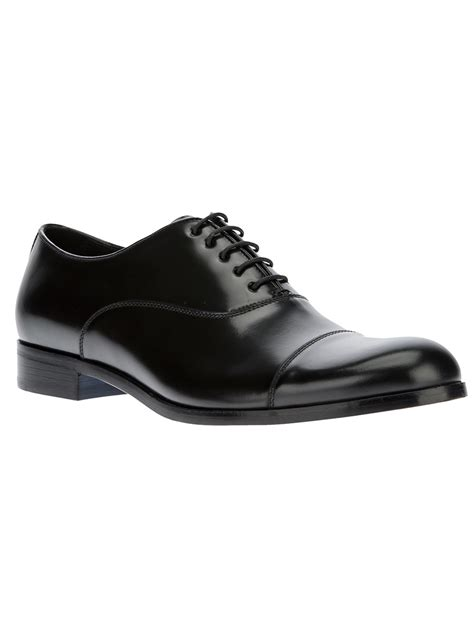 black oxford shoes emporio armani classic oxford shoe in black for lyst