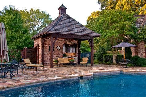 Traditional House Floor Plans by Pool Side Cabana Designs Ideas