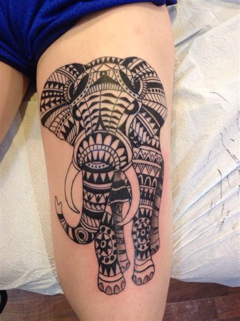 elephant infinity tattoo tribal elephant by jeff tarinelli definitely recommend