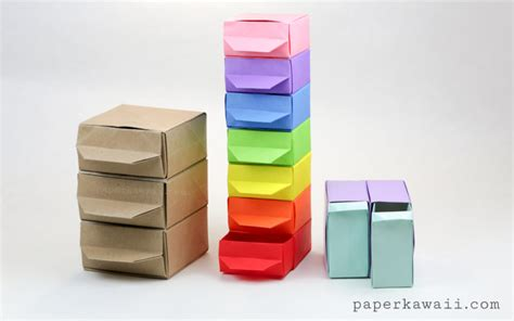 origami drawers tutorial paper kawaii