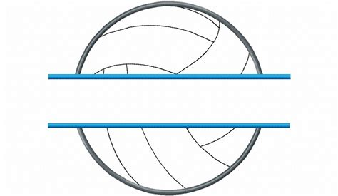 printable volleyball pattern applique split volleyball machine embroidery design