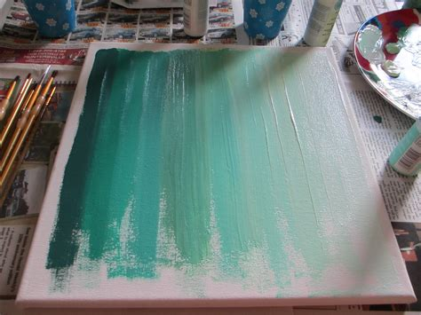 ombre acrylic paint on canvas ombre diy two delighted