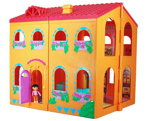 dora doll house fisher price dora magical welcome dollhouse with dolls and furniture big lot ebay