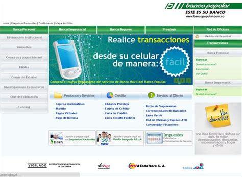 pagina banco popular banco popular colombia linea verde banco popular banco