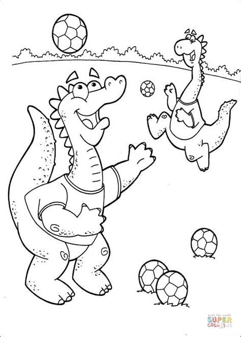 dora soccer coloring pages dragons are playing soccer coloring page free printable