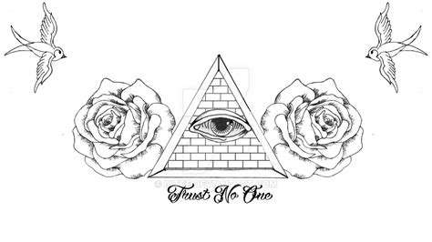 no trust tattoo designs trust no one design by iatbe on deviantart