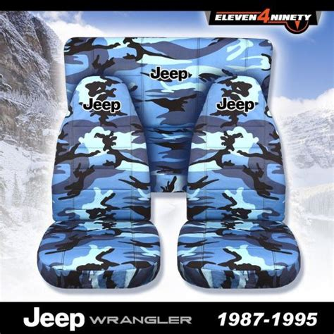 1995 jeep seat covers find 1987 1995 jeep wrangler yj seat covers blue camo
