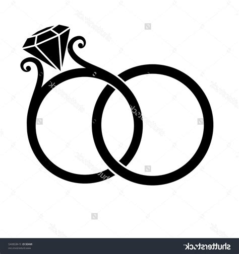 Wedding Ring Vector by Wedding Rings Clipart Silhouette Cliparts Suggest
