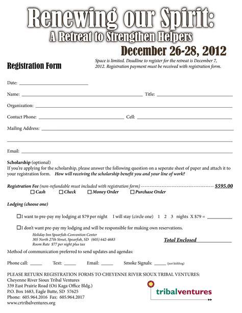 Church Familyetreategistration Form Womens Ministry Church Registration Form Template