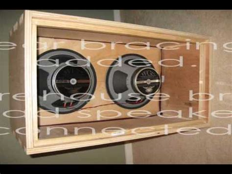 Diy Guitar Speaker Cabinet Plans by Diy Building A 2x12 Guitar Speaker Cab
