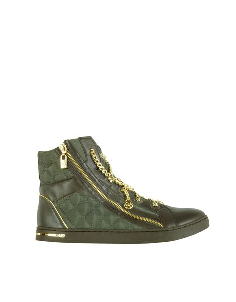 Michael Kors Quilted Sneakers michael kors quilted chain high top sneaker in