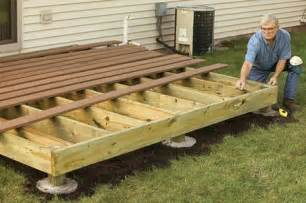 Building A Patio Deck by How To Build A Wooden Deck