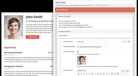 Resume Maker Plugin Best Plugins For August 2014 Code Geekz