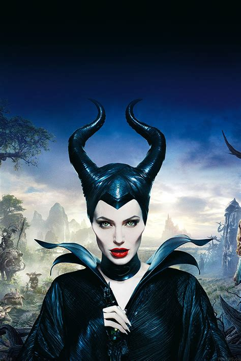 ha angelina jolie maleficent poster disney face papersco
