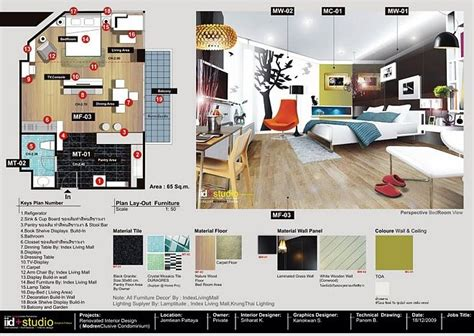 interior design layout presentation board arch architectural presentation