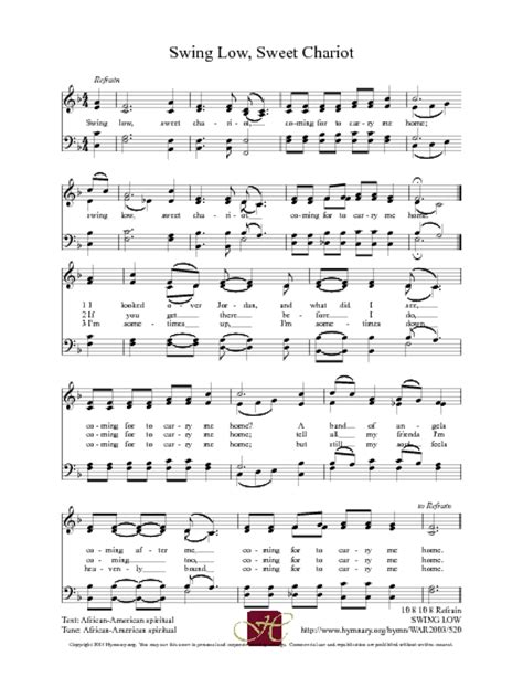 public domain swing music swing low sweet chariot hymnary org hymns pinterest